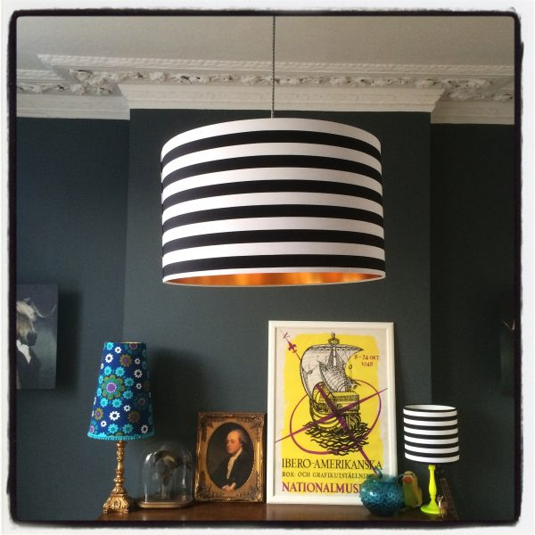 circus black and white striped lampshade