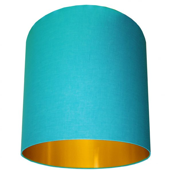 Sky Blue and gold lampshade