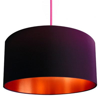 Purple and copper lampshade