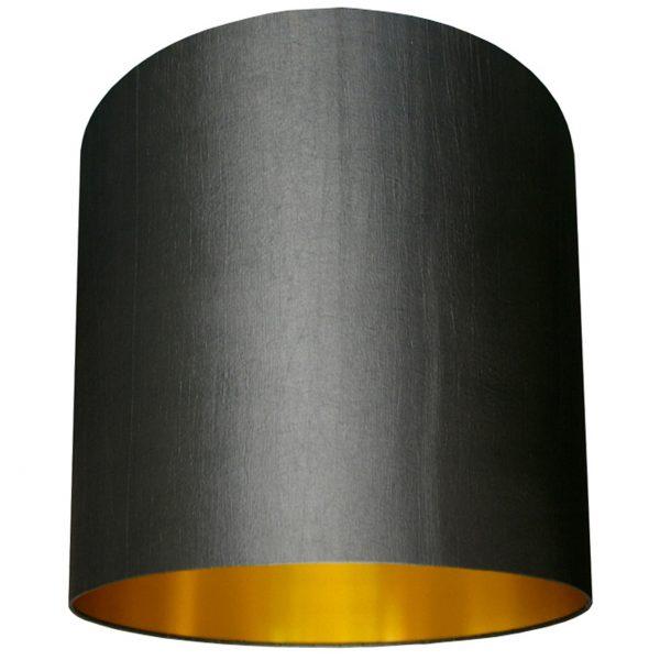 grey and gold lampshade