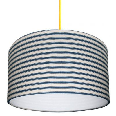 Ticking stripe lampshade in Blue