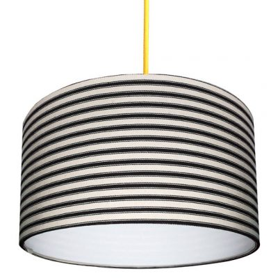 Ticking Stripe lampshade in black