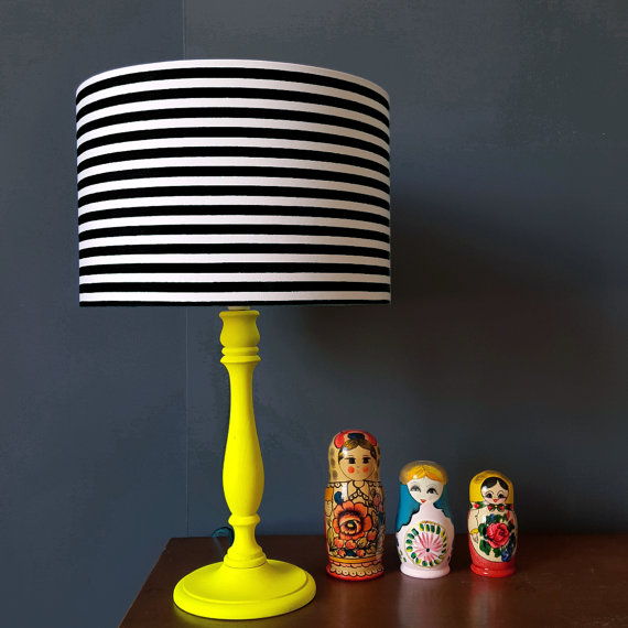 Simple Stripe Lampshade Black and white