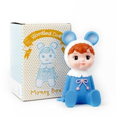 Blue Woodland Doll Moneybox