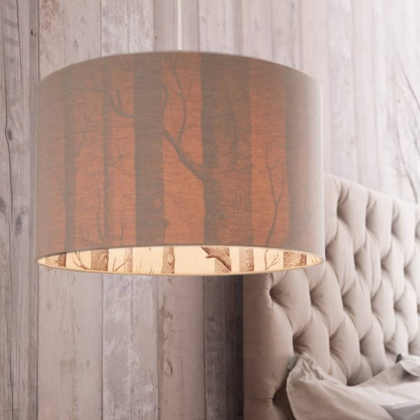Love Frankie Silhouette Lampshade using cole & Son The Woods wallpaper