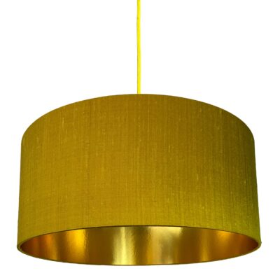 Antique Gold Silk Lampshade With Gold lining