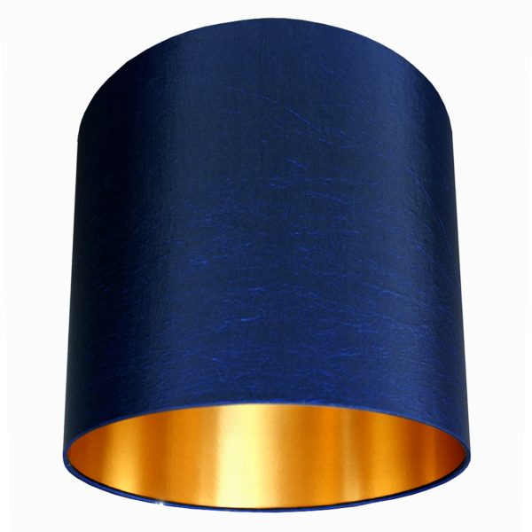 Midnight Blue Handmade Lampshade With Gold Lining Love Frankie