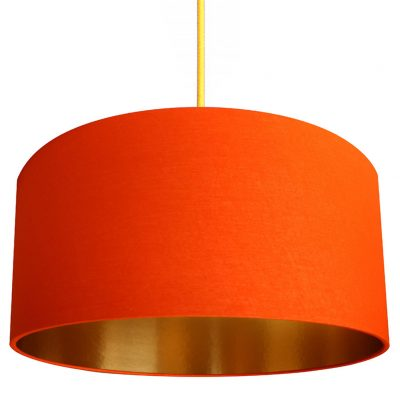 Orange and Gold Lampshade
