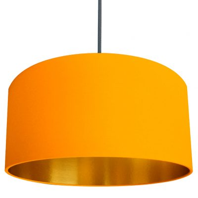 Egg Yolk yellow and gold lampshade