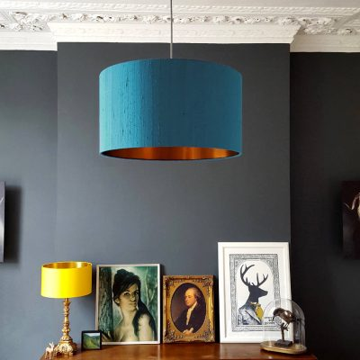 duck egg and Copper Lampshade