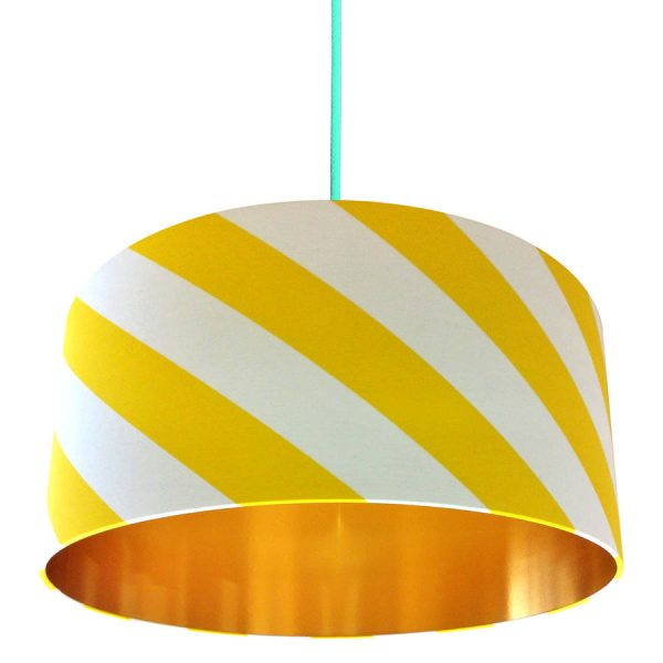 Sunshine Yellow Twister Lampshade