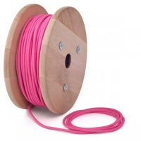 FABRIC LIGHTING CABLE IN HOT PINK