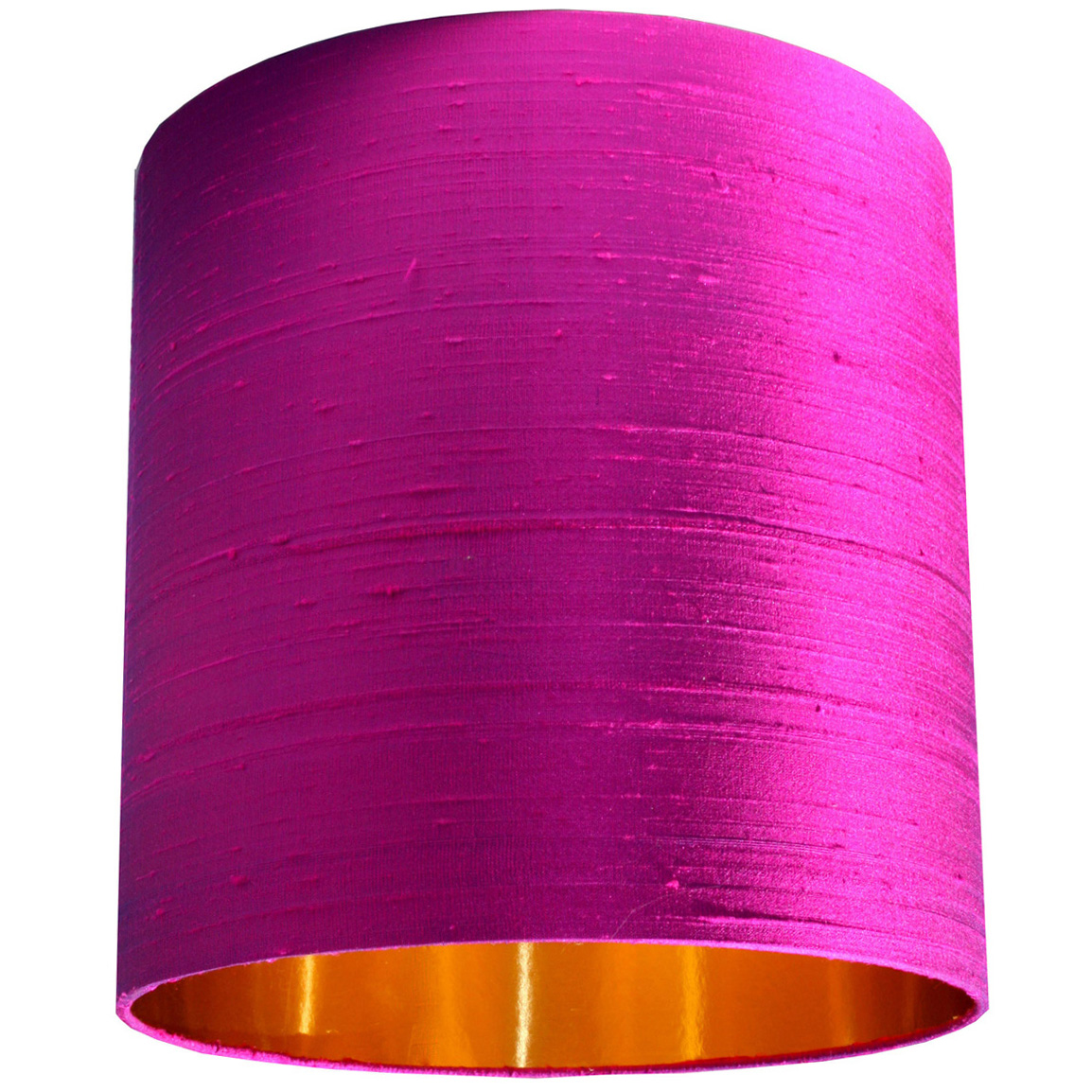 Hot Pink Indian Silk Lampshade With Gold Lining