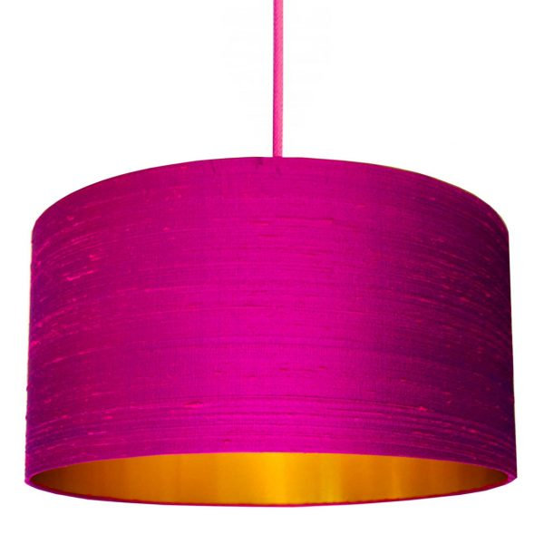 Pink and gold lampshade
