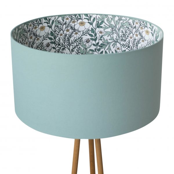 Feverfew Silhouette Lampshade in Moss
