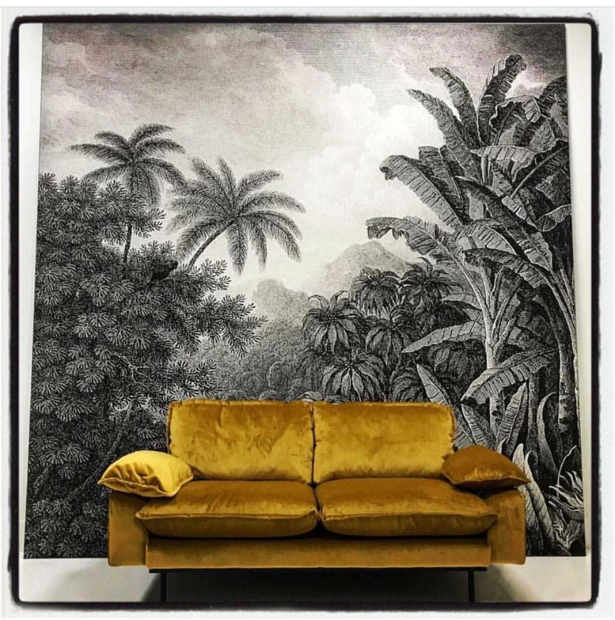 Oversized Jungle Inspired Wall Hanging Mural Xl