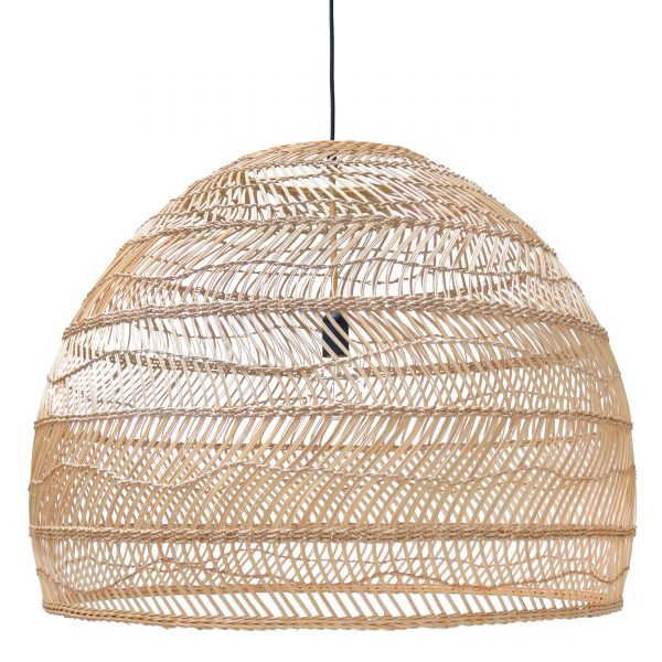 Woven Wicker Ceiling Pendant Light shade