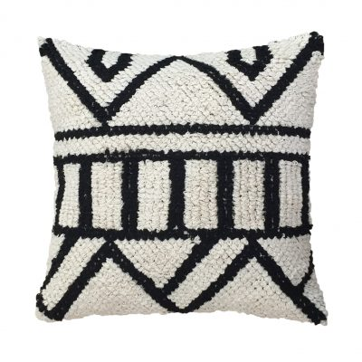 Monochrome Knotted Cushion