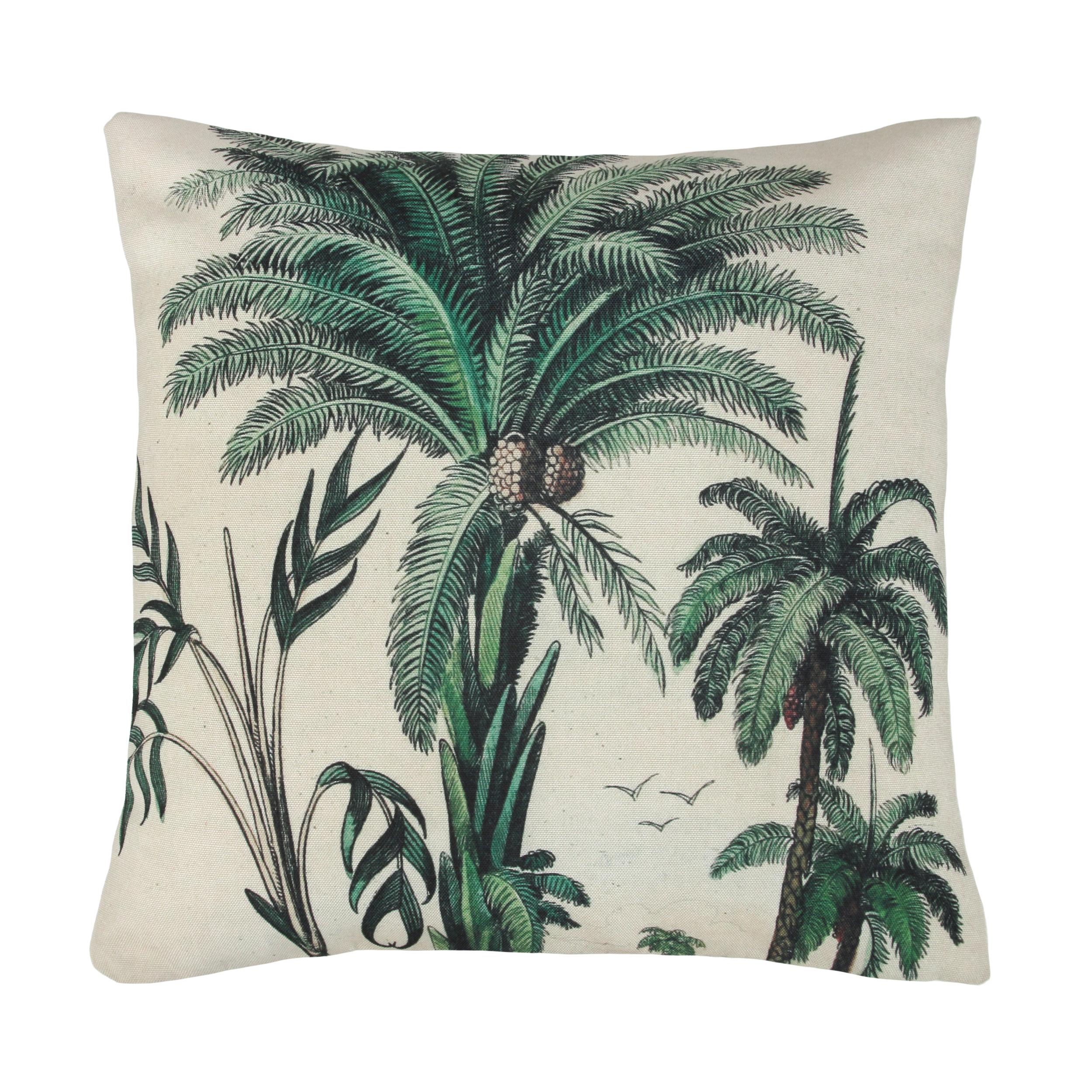 Tropical Palm Trees Cushion Love Frankie