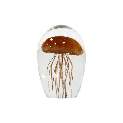 Coral Glass Jellyfish ornament