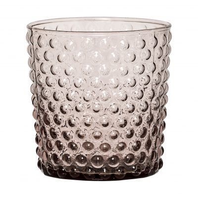 Bubble Dot Glass Tumbler - Dusky Pink