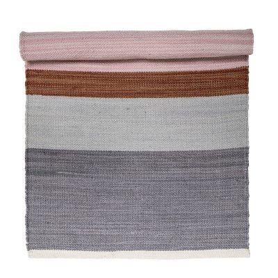 Rose Grey Block Rug