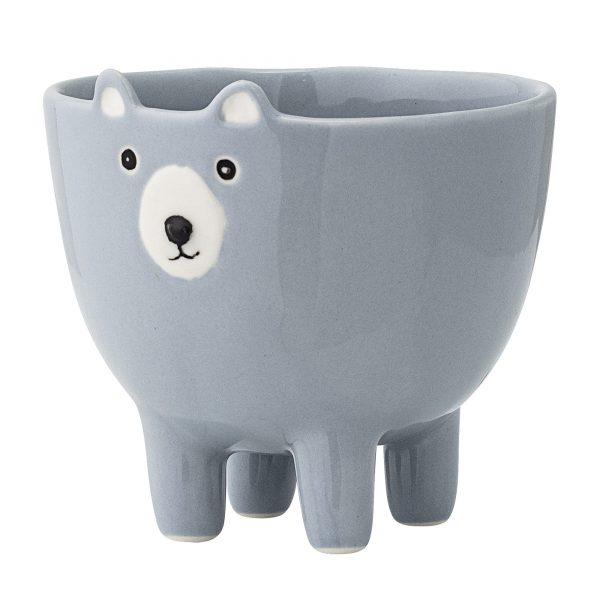 Mr Bear Face Bowl - Blue