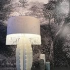 Cactus Table Lamp and LEopard Walk Fringed Lampshade