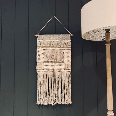 Natural Cotton Boho Wall Hanging