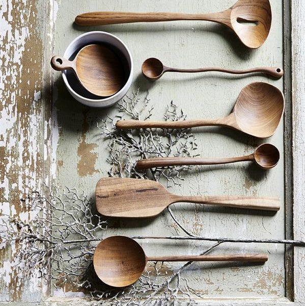 Artisan Teak Wooden ladles