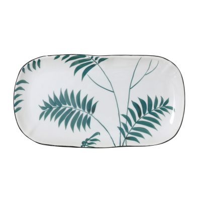 Jungalow Fern Leaves Serving Platter