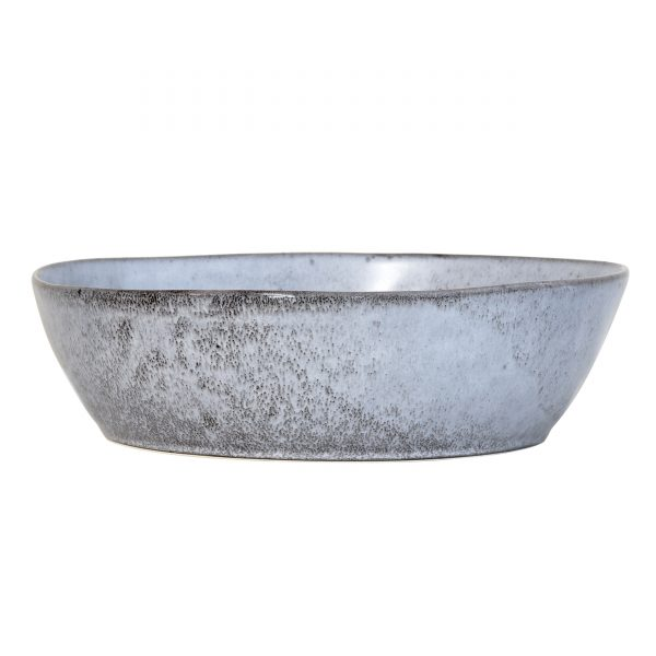 Large Rustic Speckled Grey Bowl