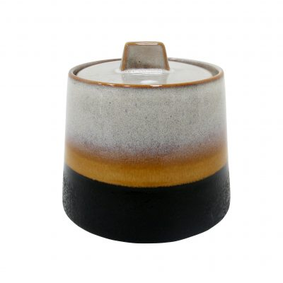Elements ceramic 70s inspired sugar bowl