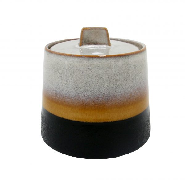 Elements ceramic 70s inspired sugar bowl