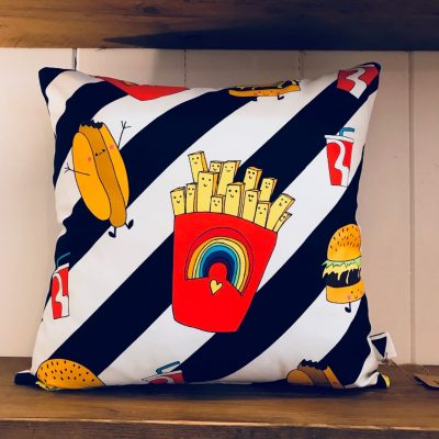 Love Frankie Junk Food Deluxe Cushion