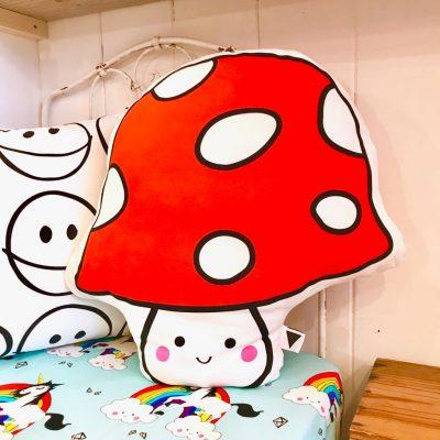 Funguy Mushroom Face Cushion