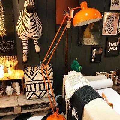 Tangerine Anglepoise Floor Lamp