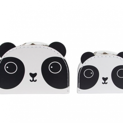 Set of 2 panda suitcases
