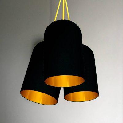 black 3 cluster chandelier
