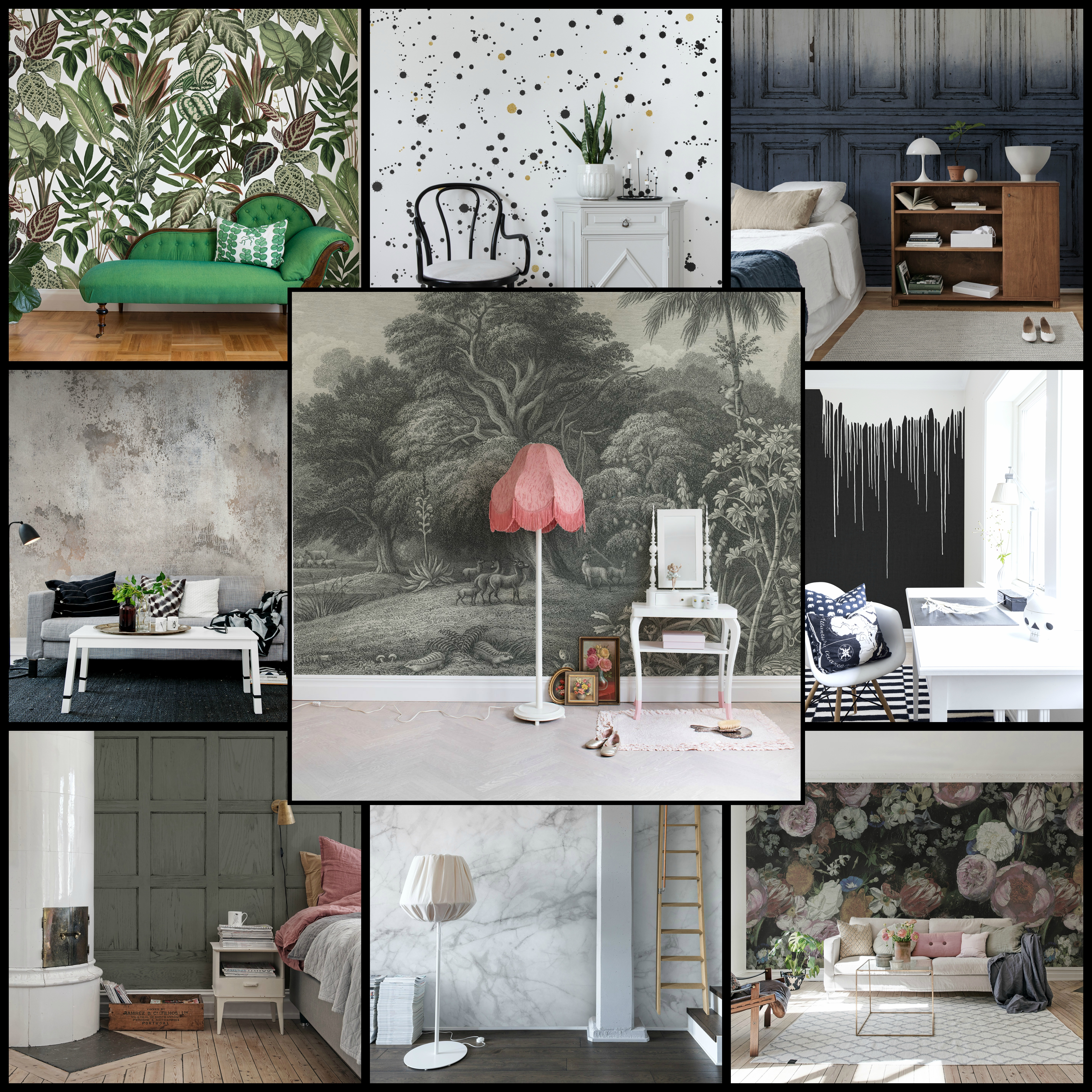 Love Frankie X Rebel Walls. Statement Wallpaper and Wall Murals