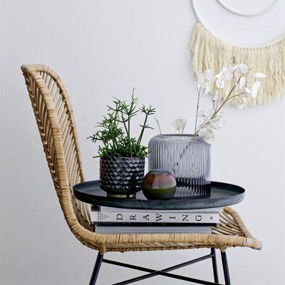 Smoked Grey Glass Vase