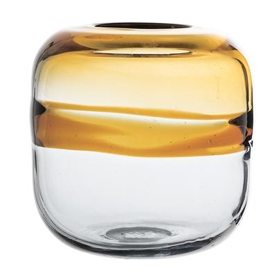 Glass Amber Vase