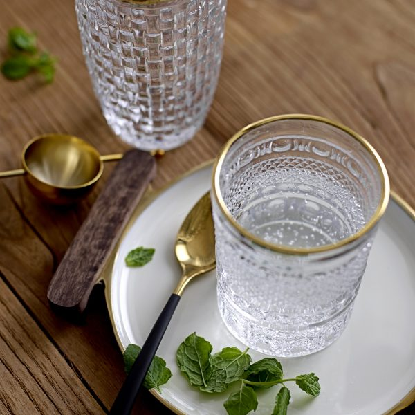 Golden Top Glass Cocktail Shaker