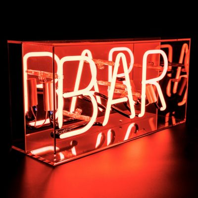 "Neon Light box ""Bar"""
