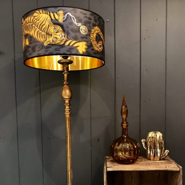 Tigris Lampshade with Gold Lining