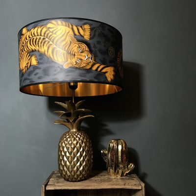Tigris Tiger Lampshade with Gold Lining