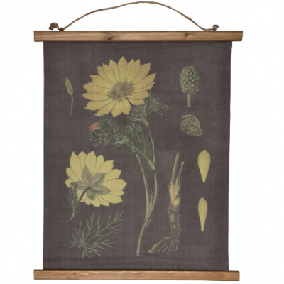 Botanical inspired Floral Wall Hanging- Yellow