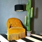 wild leopard silhouette lampshade