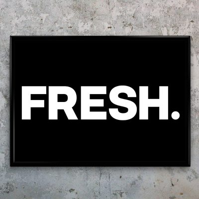Typographic Art Print - FRESH