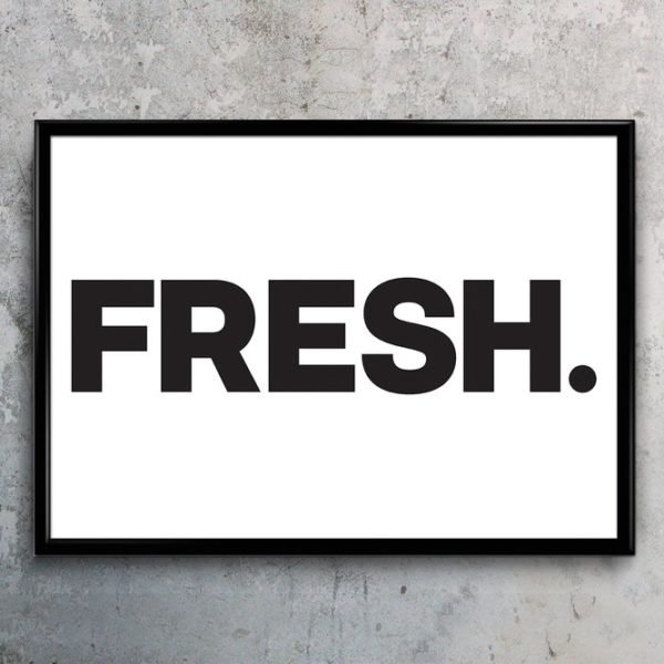 Fresh Typography Art print